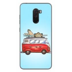 Funda Gel Tpu para Xiaomi Pocophone F1 Diseño Furgoneta Dibujos