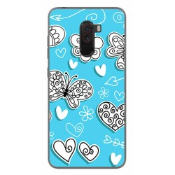 Funda Gel Tpu para Xiaomi Pocophone F1 Diseño Mariposas Dibujos