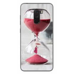 Funda Gel Tpu para Xiaomi Pocophone F1 Diseño Reloj Dibujos