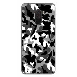 Funda Gel Tpu para Xiaomi Pocophone F1 Diseño Snow Camuflaje Dibujos