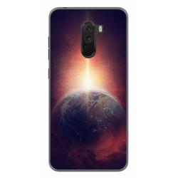 Funda Gel Tpu para Xiaomi Pocophone F1 Diseño Tierra Dibujos