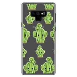 Funda Gel Transparente para Samsung Galaxy Note 9 Diseño Cactus Dibujos