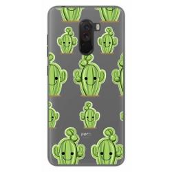 Funda Gel Transparente para Xiaomi Pocophone F1 Diseño Cactus Dibujos