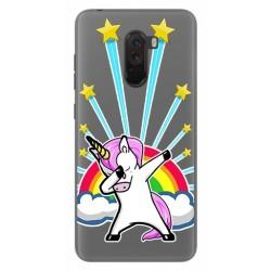 Funda Gel Transparente para Xiaomi Pocophone F1 Diseño Unicornio Dibujos