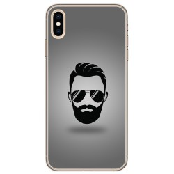 Funda Gel Tpu para Iphone XS Max Diseño Barba Dibujos