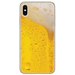 Funda Gel Tpu para Iphone XS Max Diseño Cerveza Dibujos