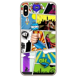 Funda Gel Tpu para Iphone XS Max Diseño Comic Dibujos