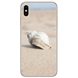 Funda Gel Tpu para Iphone XS Max Diseño Concha Dibujos