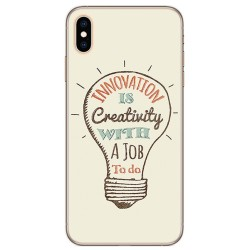 Funda Gel Tpu para Iphone XS Max Diseño Creativity Dibujos
