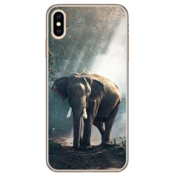 Funda Gel Tpu para Iphone XS Max Diseño Elefante Dibujos