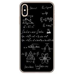 Funda Gel Tpu para Iphone XS Max Diseño Formulas Dibujos