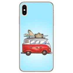 Funda Gel Tpu para Iphone XS Max Diseño Furgoneta Dibujos