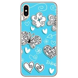 Funda Gel Tpu para Iphone XS Max Diseño Mariposas Dibujos