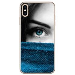 Funda Gel Tpu para Iphone XS Max Diseño Ojo Dibujos