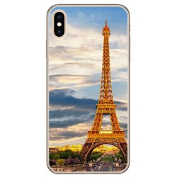 Funda Gel Tpu para Iphone XS Max Diseño Paris Dibujos
