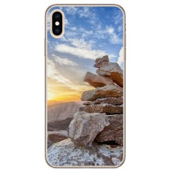 Funda Gel Tpu para Iphone XS Max Diseño Sunset Dibujos