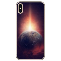 Funda Gel Tpu para Iphone XS Max Diseño Tierra Dibujos