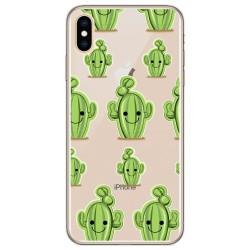Funda Gel Transparente para Iphone XS Max Diseño Cactus Dibujos