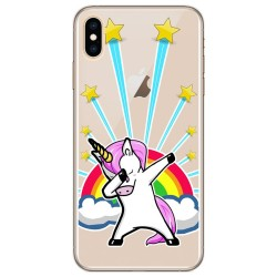 Funda Gel Transparente para Iphone XS Max Diseño Unicornio Dibujos