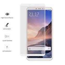 Protector Cristal Templado Frontal Completo Blanco para Xiaomi Mi Max 3 Vidrio