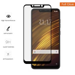 Protector Cristal Templado Completo Full Glue Negro para Xiaomi Pocophone F1 Vidrio