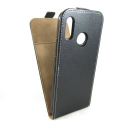Funda Piel Premium Negra Ultra-Slim para Huawei P Smart Plus