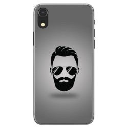 Funda Gel Tpu para Iphone XR Diseño Barba Dibujos