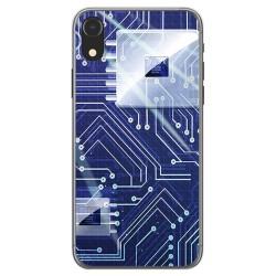 Funda Gel Tpu para Iphone XR Diseño Circuito Dibujos