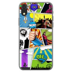 Funda Gel Tpu para Iphone XR Diseño Comic Dibujos