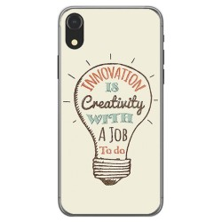 Funda Gel Tpu para Iphone XR Diseño Creativity Dibujos