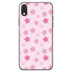 Funda Gel Tpu para Iphone XR Diseño Flores Dibujos