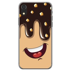 Funda Gel Tpu para Iphone XR Diseño Helado Chocolate Dibujos
