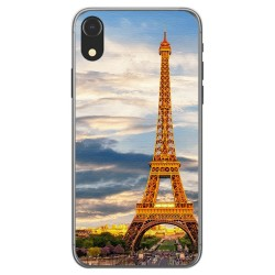 Funda Gel Tpu para Iphone XR Diseño Paris Dibujos
