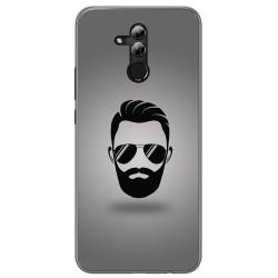 Funda Gel Tpu para Huawei Mate 20 Lite Diseño Barba Dibujos