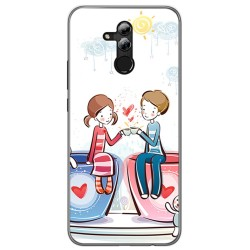 Funda Gel Tpu para Huawei Mate 20 Lite Diseño Cafe Dibujos