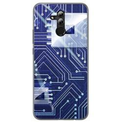 Funda Gel Tpu para Huawei Mate 20 Lite Diseño Circuito Dibujos