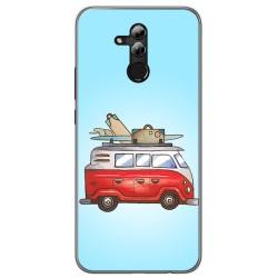Funda Gel Tpu para Huawei Mate 20 Lite Diseño Furgoneta Dibujos