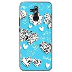 Funda Gel Tpu para Huawei Mate 20 Lite Diseño Mariposas Dibujos