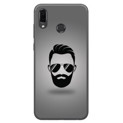 Funda Gel Tpu para Huawei Honor Play Diseño Barba Dibujos