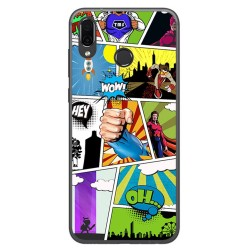 Funda Gel Tpu para Huawei Honor Play Diseño Comic Dibujos