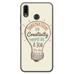Funda Gel Tpu para Huawei Honor Play Diseño Creativity Dibujos