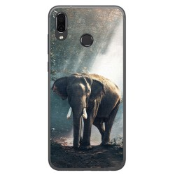 Funda Gel Tpu para Huawei Honor Play Diseño Elefante Dibujos