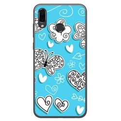 Funda Gel Tpu para Huawei Honor Play Diseño Mariposas Dibujos