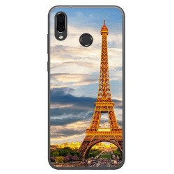 Funda Gel Tpu para Huawei Honor Play Diseño Paris Dibujos