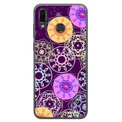 Funda Gel Tpu para Huawei Honor Play Diseño Radial Dibujos