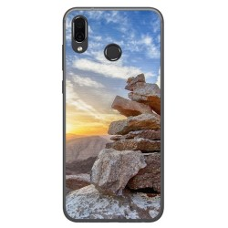 Funda Gel Tpu para Huawei Honor Play Diseño Sunset Dibujos