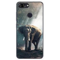 Funda Gel Tpu para Asus Zenfone Max Plus M1 Diseño Elefante Dibujos