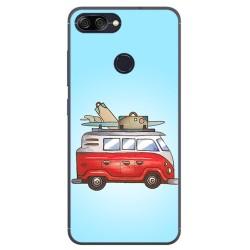 Funda Gel Tpu para Asus Zenfone Max Plus M1 Diseño Furgoneta Dibujos