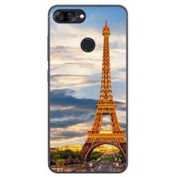 Funda Gel Tpu para Asus Zenfone Max Plus M1 Diseño Paris Dibujos