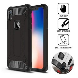 Funda Tipo Hybrid Tough Armor (Pc+Tpu) Negra para Iphone Xr